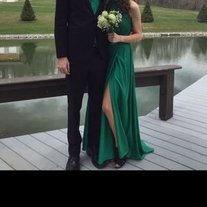 Emerald Green Sherri Hill Prom Dress